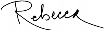 Signature of Rebecca Jewett, President and CEO